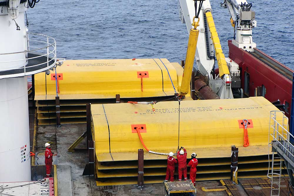 Subsea 7 successfully installed protection covers in rough weather