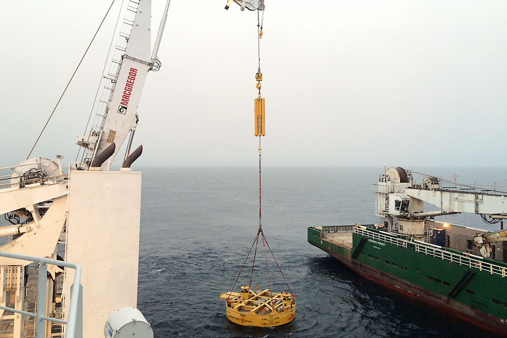 Installation of suction pile in deep water