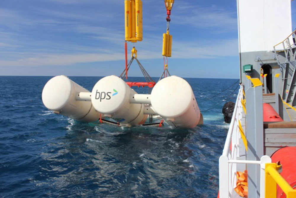 Installation of large wave energy device